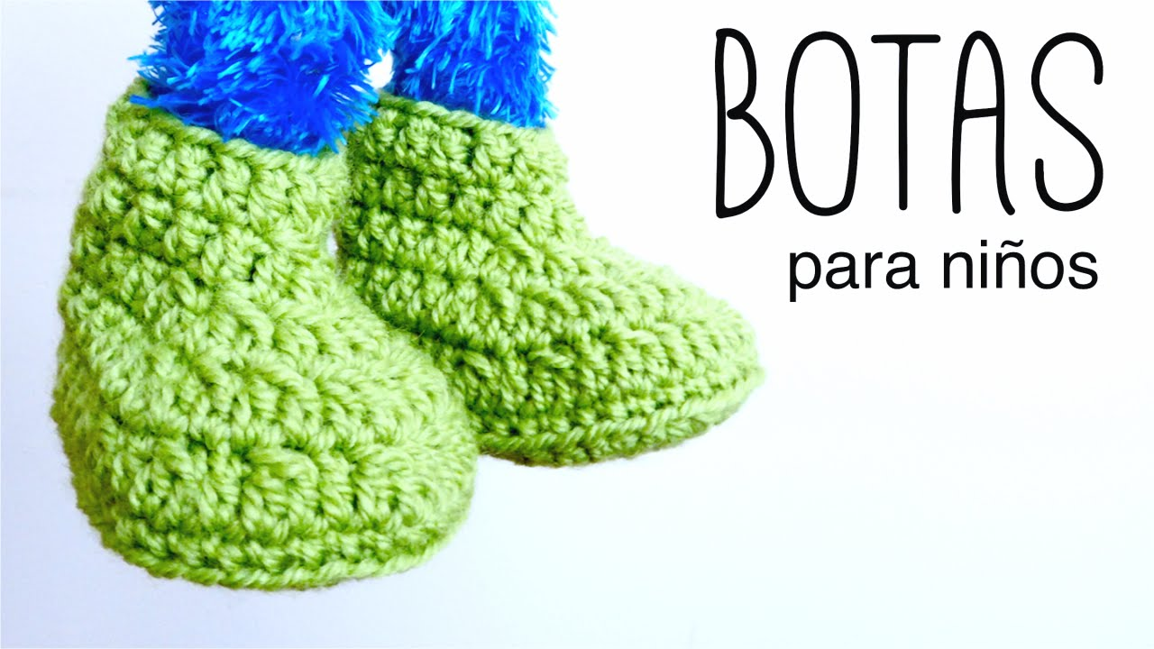 Botas para NIÑOS a crochet (zapatillas, pantuflas) DE 2 A 10 AÑOS ...