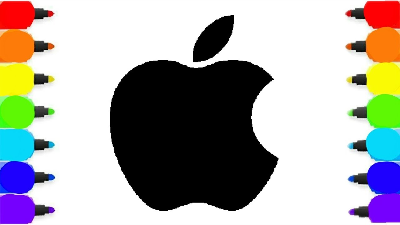 Coloring Pages Apple : Rainbow learning colours l apple icon coloring pages l drawing and