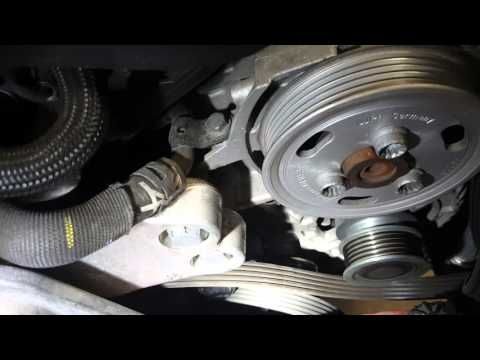 Alternator removal how to Volkswagen vw 2.5 jetta new beetle