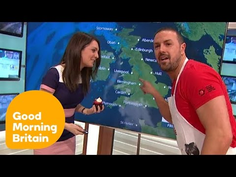 Paddy McGuinness Interrupts the Weather to Give Laura Cakes! | Good Morning Britain