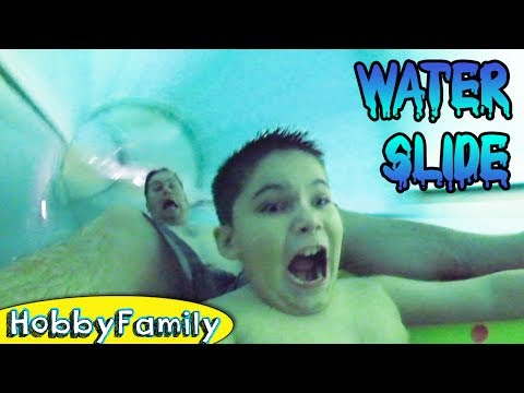 GIANT Indoor Wild Slides at Great Wolf! Summer Fun by HobbyFamilyTV