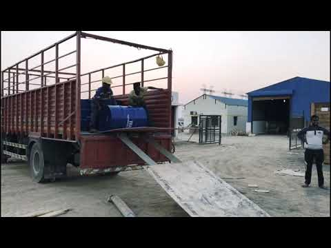 How To Unload An Oil Drum ? Such A Exciting Video  .