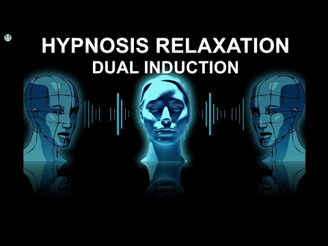 Hypnosis Relaxation Induction (dual) with Alpha Binaural Beats 😌 for 40 min.