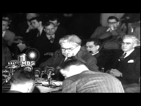 John L. Lewis, President of UMWA addresses Congress of Industrial Organizations a...HD Stock Footage