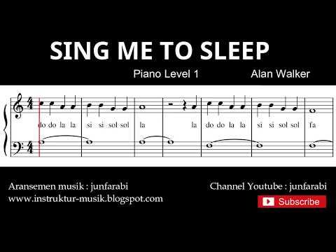 sing me to sleep , alan walker - belajar not balok lagu piano level 1 / basic - not doremifasol