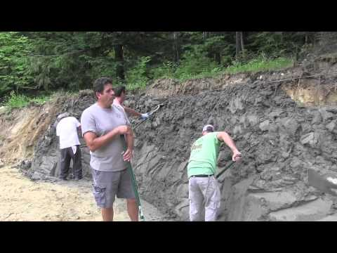 Building A Large Stonemakers Retaining Wall Youtube