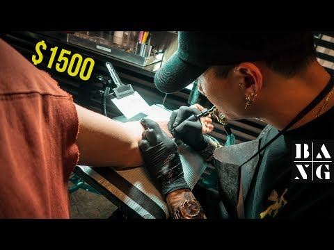 What It's Like Getting A $1500 TATTOO At Bang Bang NYC!  |  Mr. K Geometric Tiger Tattoo
