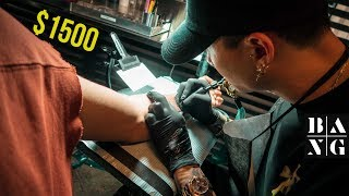 What It's Like Getting a $1500 TATTOO at Bang Bang NYC!  |  Mr. K Geometric Tiger Tattoo Mp3