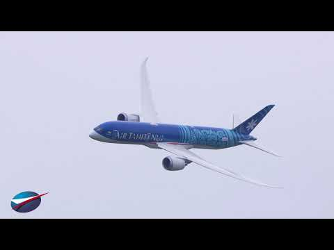 Vol du BOEING 787-9 | Salon du Bourget 2019