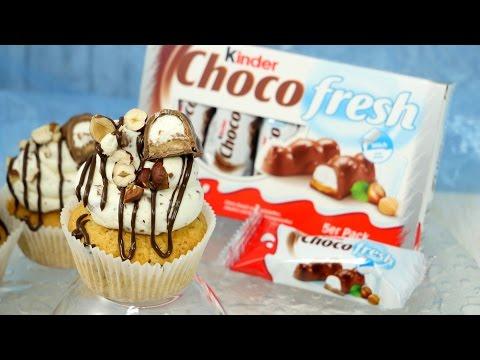 Kinder Choco Fresh Cupcakes mit Füllung