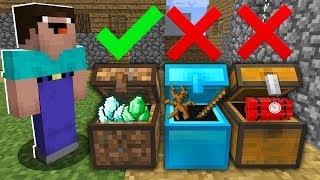 Which chest to choose? IN MINECRAFT : NOOB vs PRO