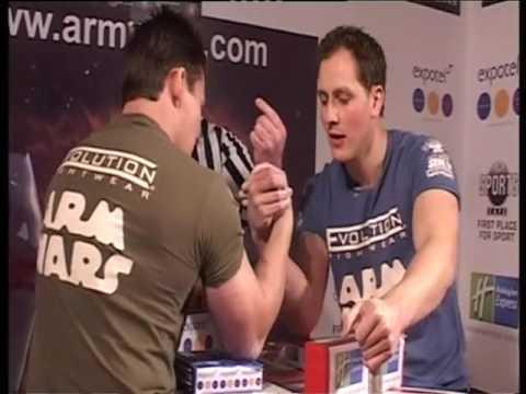 ARM WARS POWERPLAY - Stephen Kirlew (UK) Vs. Pascal Humard - Eurosport 2 | Episode 45