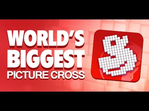 Worlds Biggest Picture Cross (Picross / Nonogram): Completing a Winter puzzle (Medium difficulty)