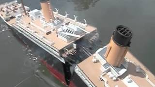 Model Titanic SPLITS #2   High Angle Breakup   Sinking   YouTube