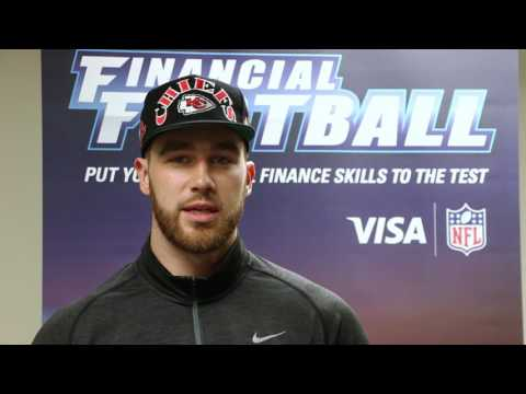 Kansas City Chiefs Travis Kelce Talks to Teens About Saving Money