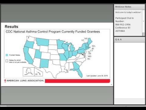 Webinar: American Lung Association's Asthma Guidelines-Based Care Initiative