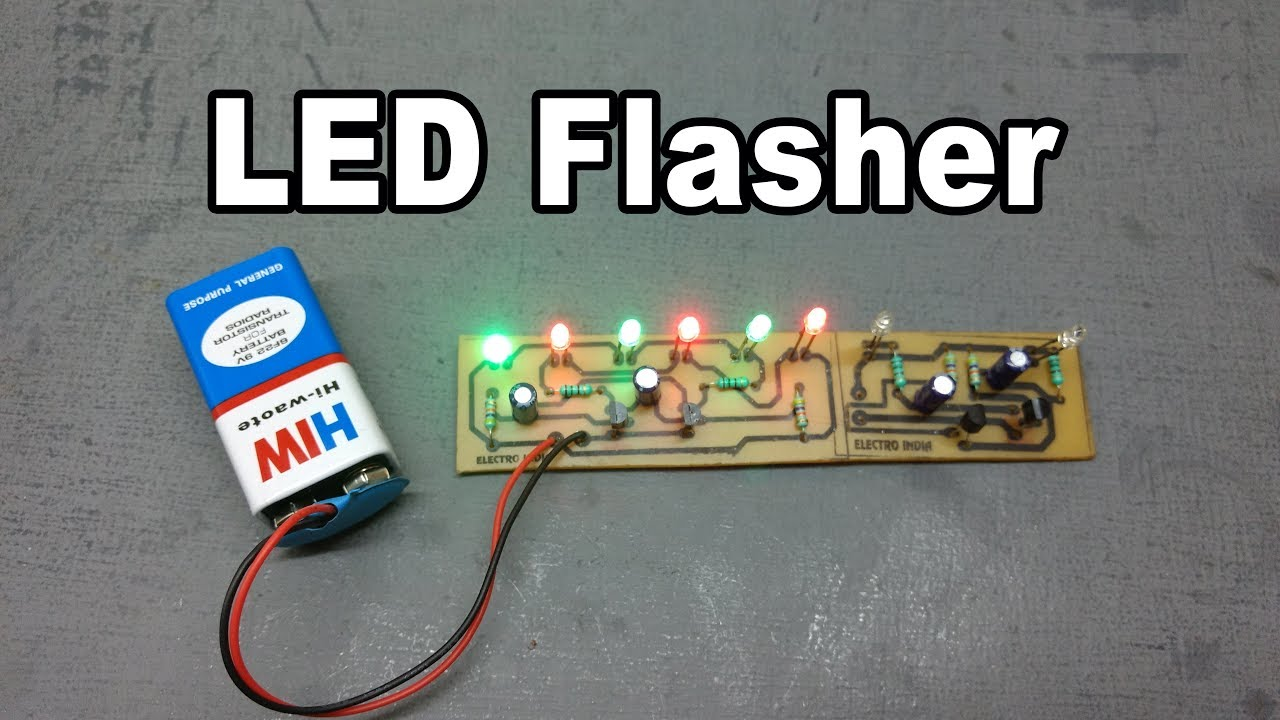 Diy 6 Led 2 Flasher Part Board Hindi Electronics So The Leds Are Not Over Driven 555 Ic Projects And 4017ic Electroindia