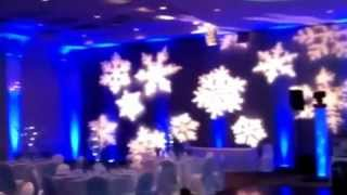 Winter Christmas Party Gobo Lighting