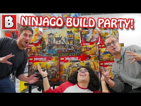 Build Party!!! LEGO NINJAGO Summer 2018 Wave is HERE!