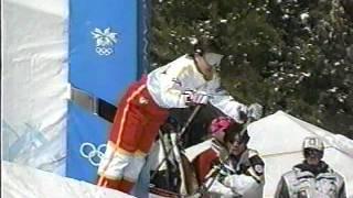 1998年、長野オリンピック。女子モーグル決勝。里谷多英金メダル。上村...