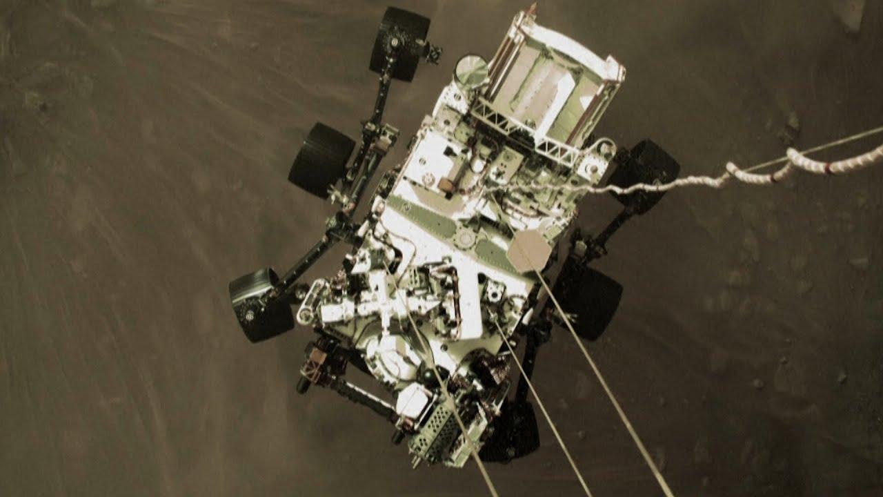 La NASA publicó imágenes de la llegada de Perseverance a Marte