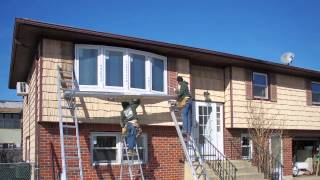 Video Large Bow Window with Dark Brown Trim - Installation - Timelapse - Renewal by Andersen download MP3, 3GP, MP4, WEBM, AVI, FLV Agustus 2018