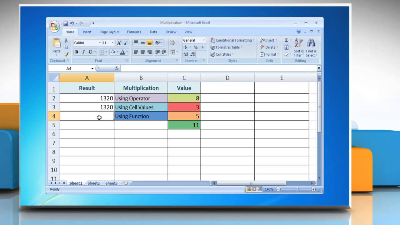 How to Multiply in Excel 20