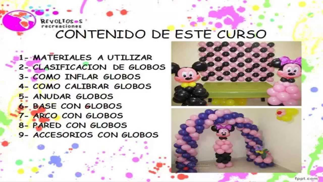 Curso decoracion con globos nivel basico gratis parte for Cursos de muebleria gratis