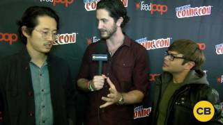 Trollhunters' Steven Yeun and Charlie Saxton at the New York Comic Con