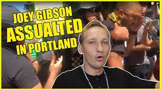 EXCLUSIVE! Joey Gibson ASSAULTED at Portland Rally!