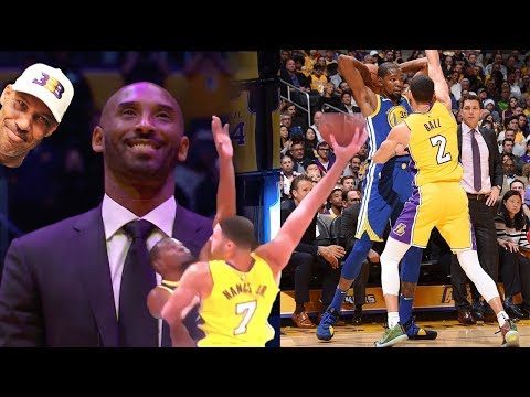 Kobe Bryant IMPRESSED with Lonzo Ball!! Kevin Durant gets POSTERIZED TWICE! Lakers vs Warriors!