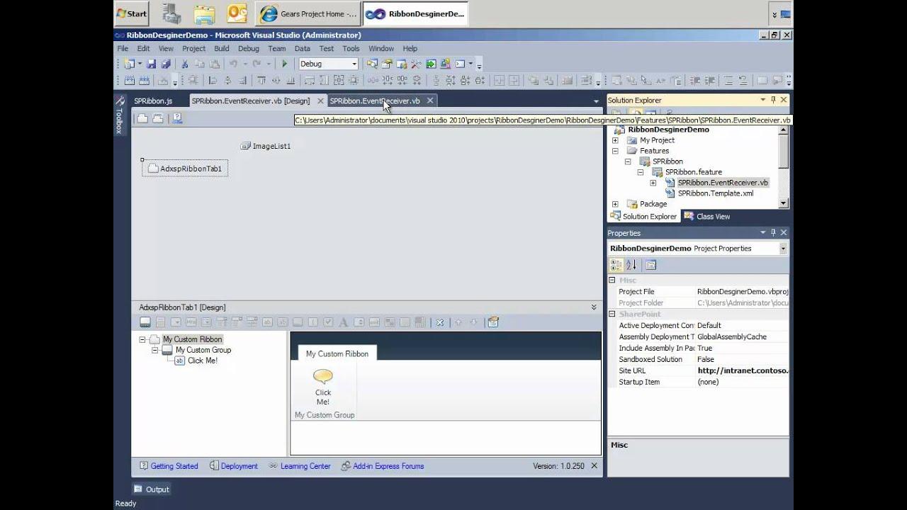 SharePoint Ribbon customization without learning Server Ribbon XML