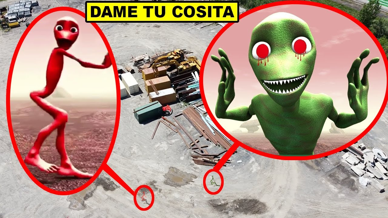 DRONE CATCHES DAME TU COSITA AT ABANDONED DUMP | DAME TU COSITA CAUGHT ON DRONE IN REAL LIFE!