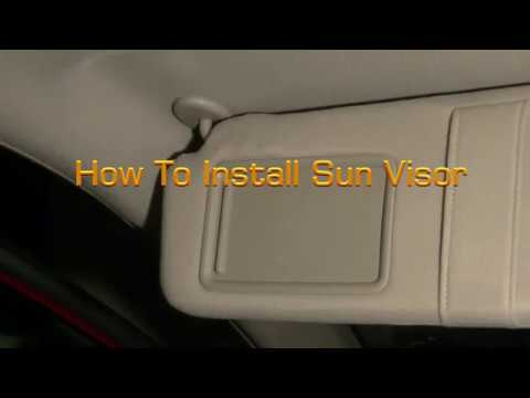 DIY How To Install Toyota Sun Visor - YouTube 91f4a241473