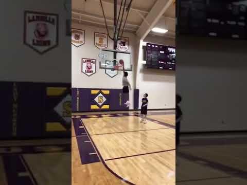 Serena high school basketball dunks
