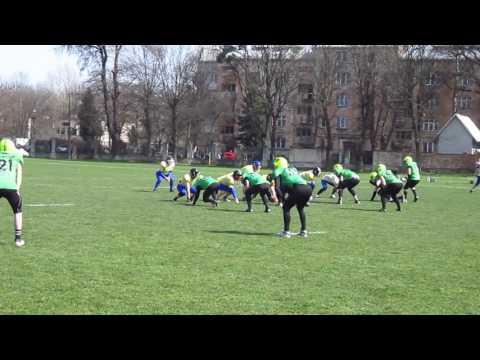 Lviv Lions strong safety 17 tackle  Hard Sport
