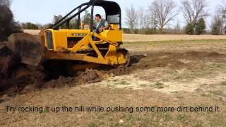 Stump Removal with a John Deere 450C Dozer