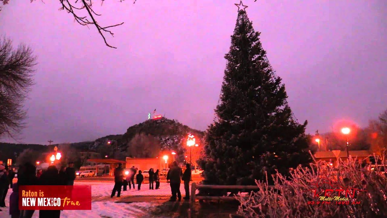 Raton NM Christmas Tree lighting11 28 15