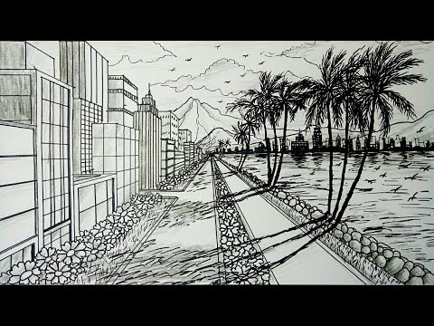 How To Draw A City Using 3 Point Perspective Narrated Youtube