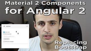 angular 2 material replacing bootstrap in ng2play repo