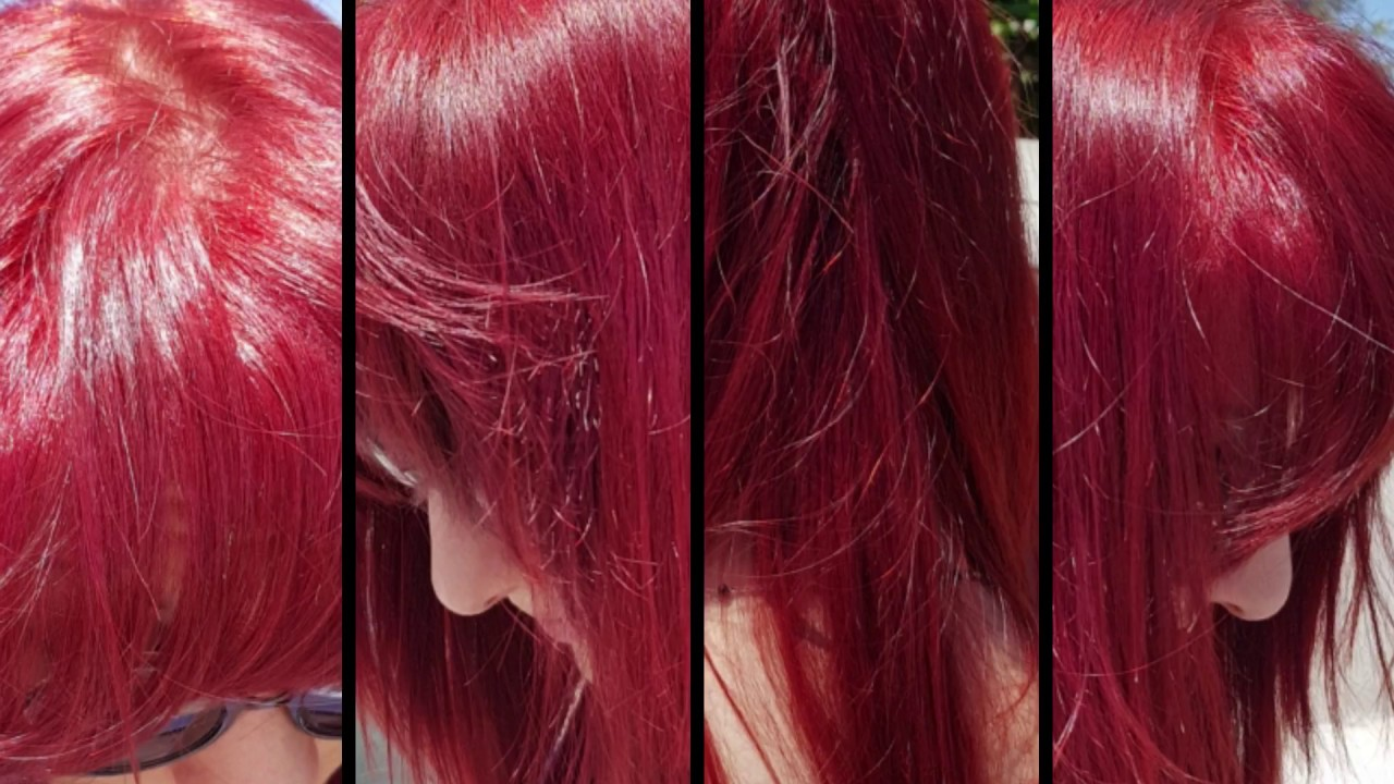 Fire Red Hair Without Bleaching With Majicontrast Loréal