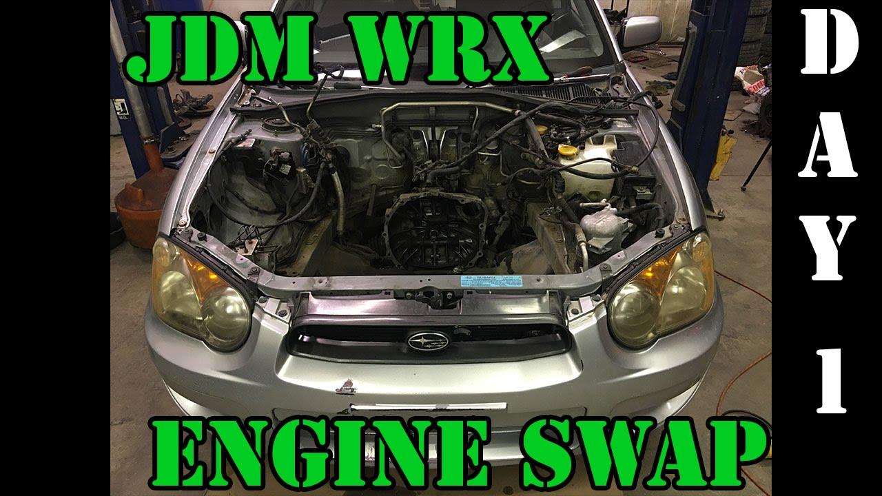 JDM WRX Engine Swap! - Day 1