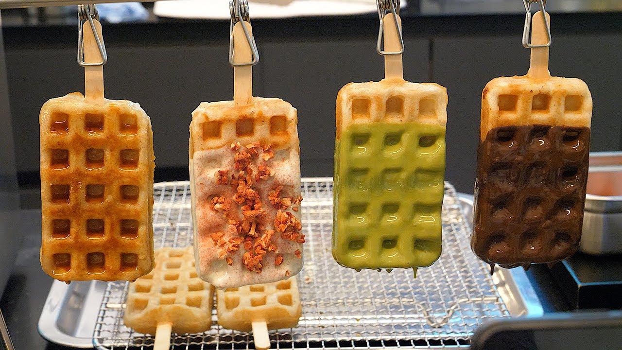 와플인가 떡인가, 쫀득한 100% 찹쌀 와플, 수요미식회 / chewy sticky rice waffle - korean street food
