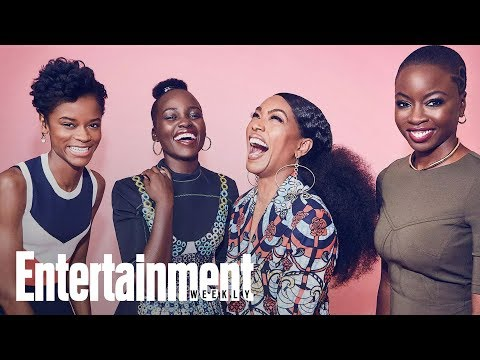 Black Panther's Female Warriors Lupita Nyong'o, Angela Bassett & Danai Gurira | Entertainment Weekly