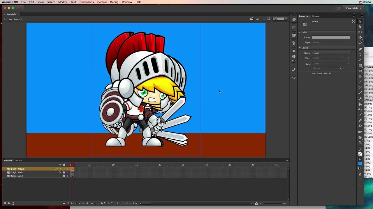 Animate CC - Sprite Animation Part 1