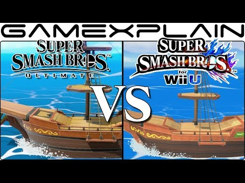 Super Smash Bros. Ultimate Graphics Comparison: Switch vs. Wii U (ALL RETURNING STAGES!)