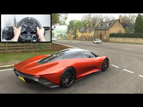 Forza Horizon 4 McLaren Speedtail (Steering Wheel + Paddle Shifter) Gameplay