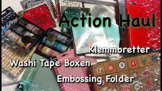 Action Haul #3 Oktober 2018 mit neuen Washi Tape Box, Adventskalender und Klemmbrett für Karte