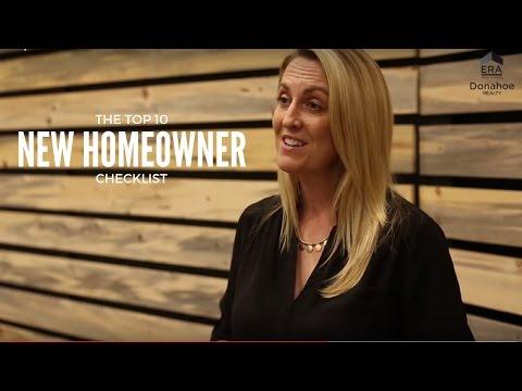 Top 10 New Homeowner Checklist