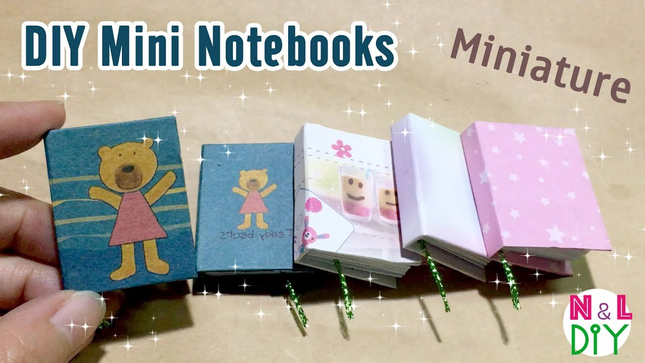 Diy Mini Notebooks Step By Step Super Easy Craft